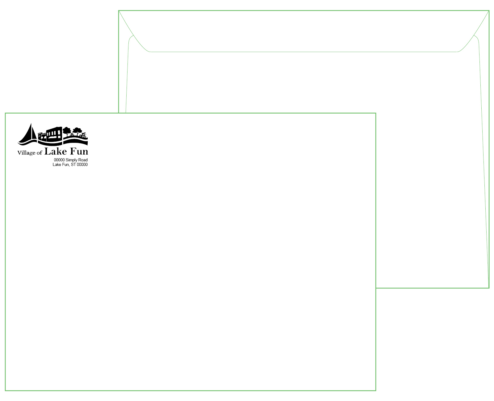 9 x 12 White Booklet Envelope