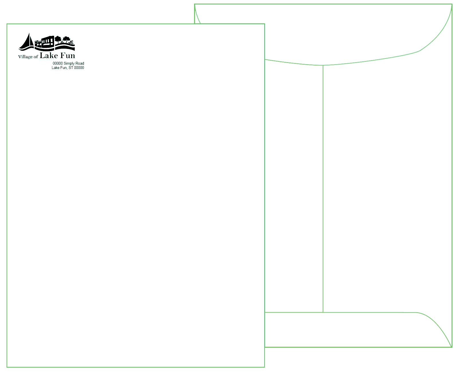 9 x 12 White Catalog Envelope