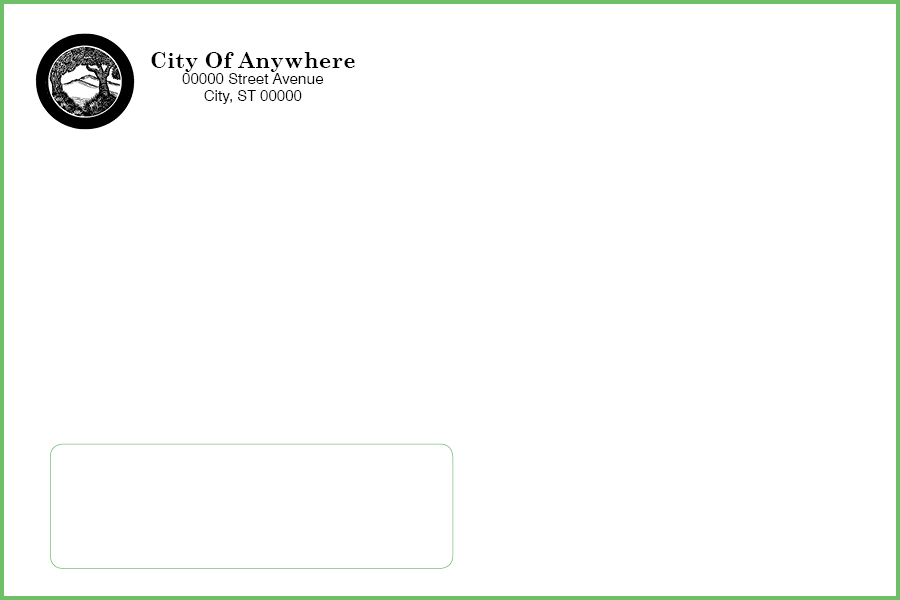 330 Window Envelope (For Business License) - Custom