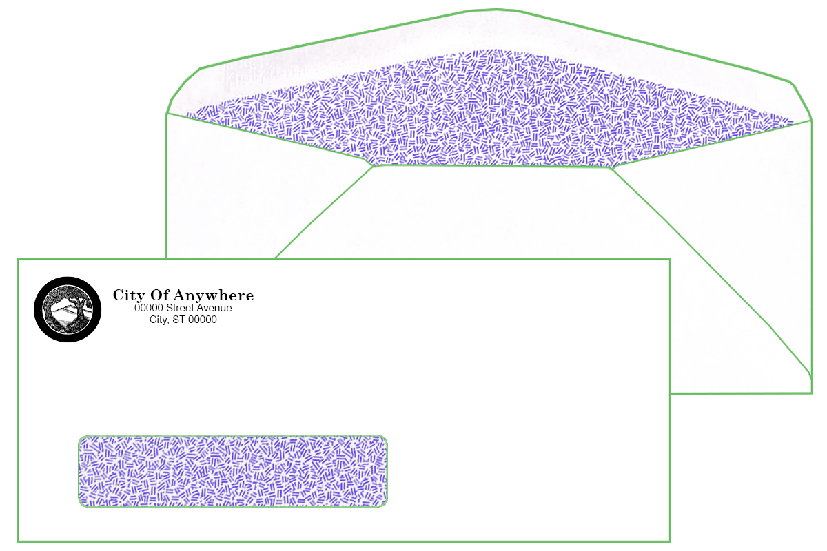 #10 Window Envelope with Inside Tint