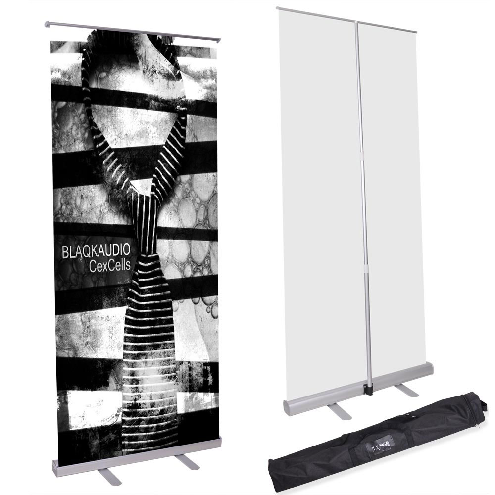 "Retractable Banner Stand (33 1/2"" x 85"")"