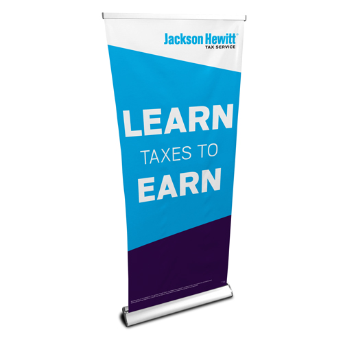 JH Deluxe Retractable Banner Stand