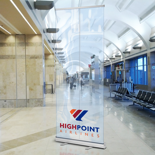 Clear Standard Retractable Banner Stand