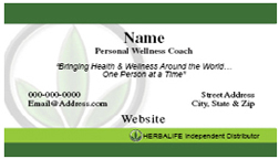 Herbalife Business Card - BIZ_HERB_12