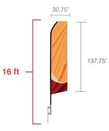 feather flag-measurements web