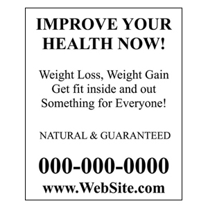 Improve Your Health Flyer