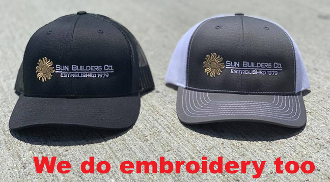 2-Sun Builders Embriodered Caps