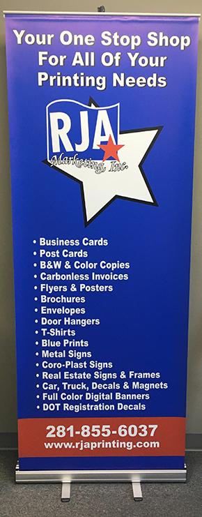 RJA Printing Pop Banner