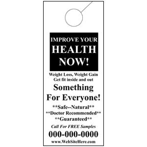 Improve Your Health Now Door Hanger - Electric Yellow