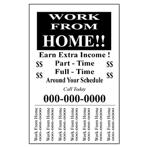 Work From Home ½ Page Pull Tab