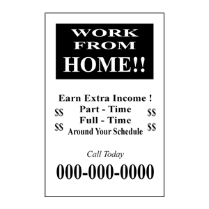 Work From Home ½ Page Flyer