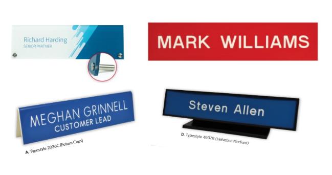 Desk Signs