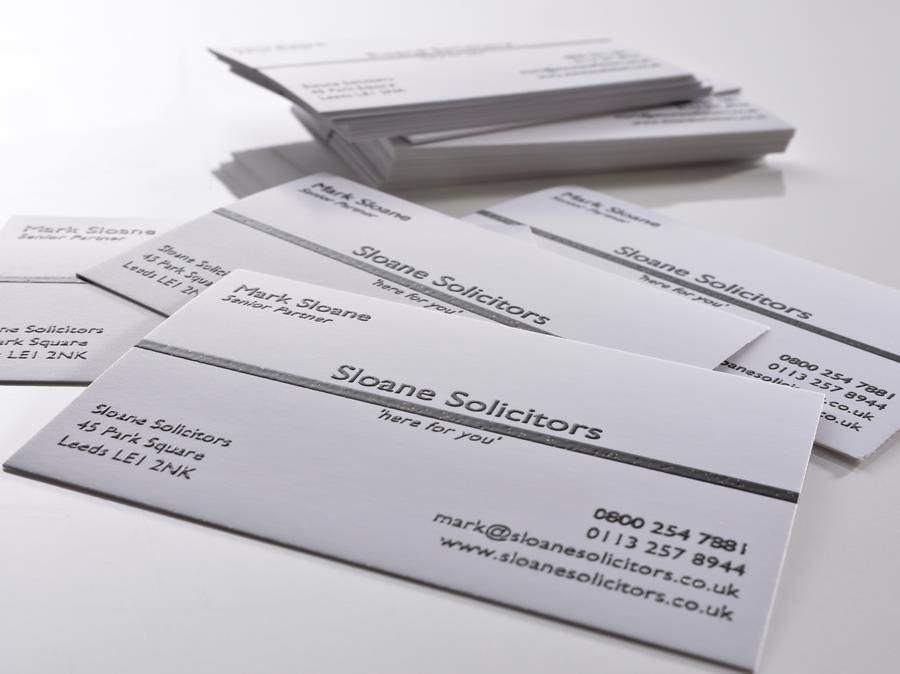 Moore Graphics · Thermographed Business Cards