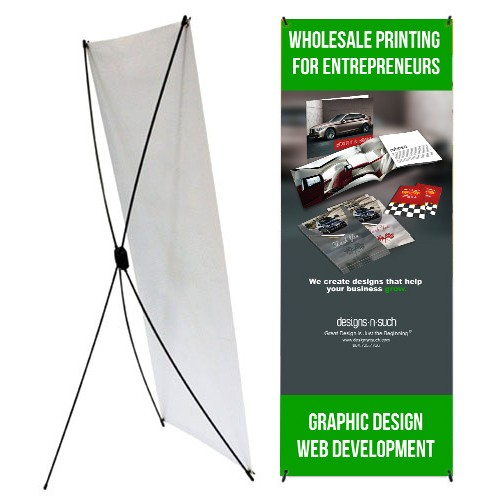 Moore Graphics 183 X Style Collapsible Banner Stand