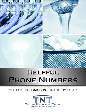 Helpful Numbers