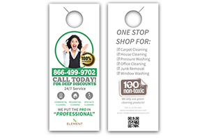Door Hangers on 100# Uncoated Cover