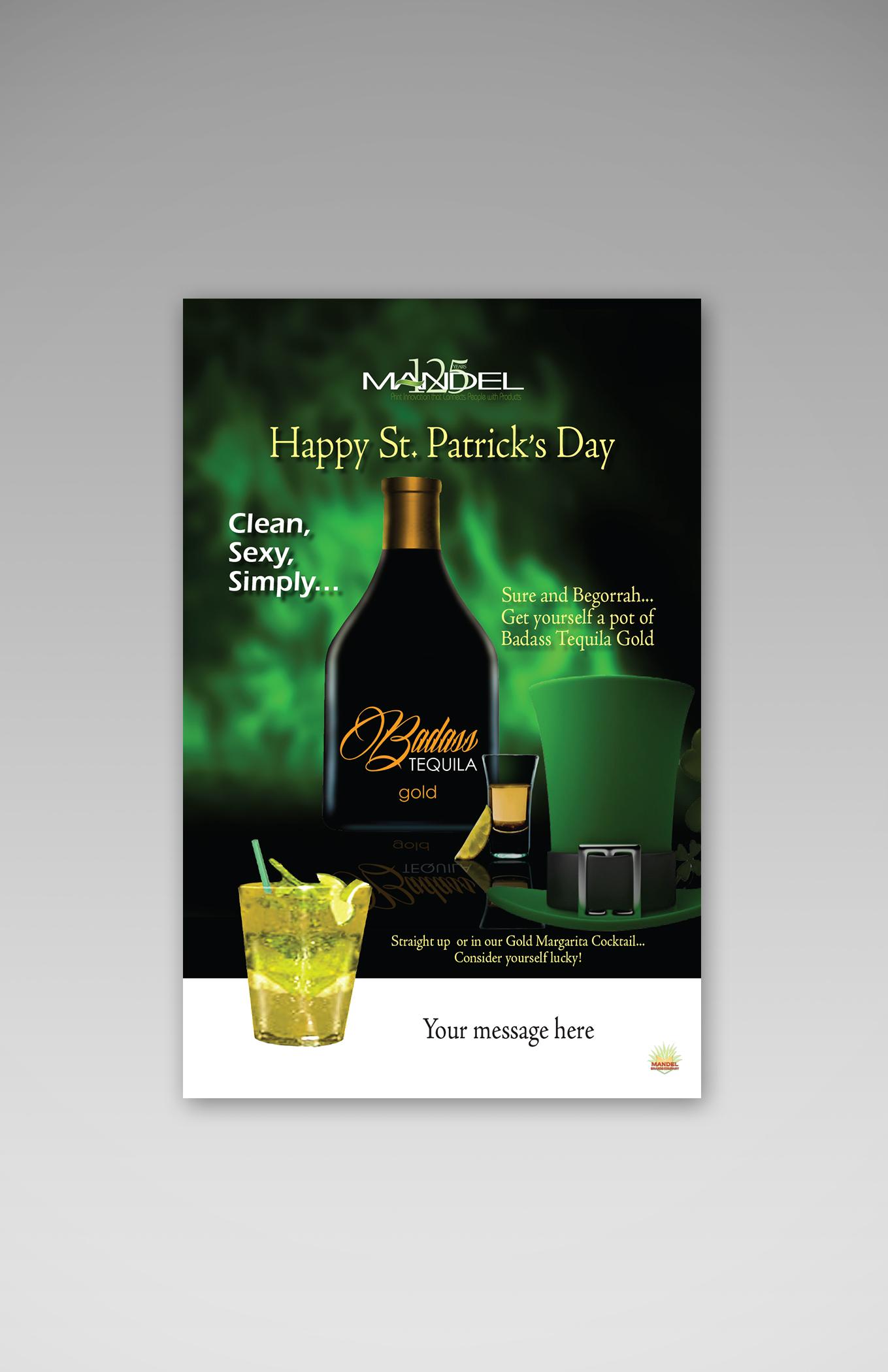 "BadAss Tequila Poster 11""x17"""