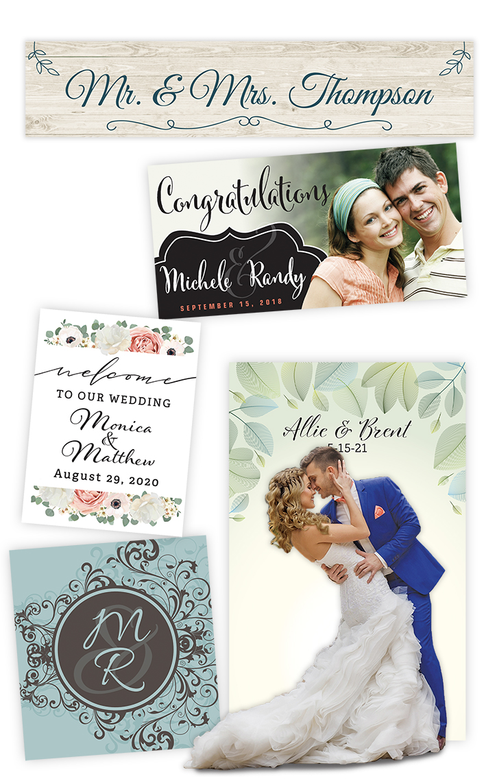Weddding Large Format Printing Vinyl Banners