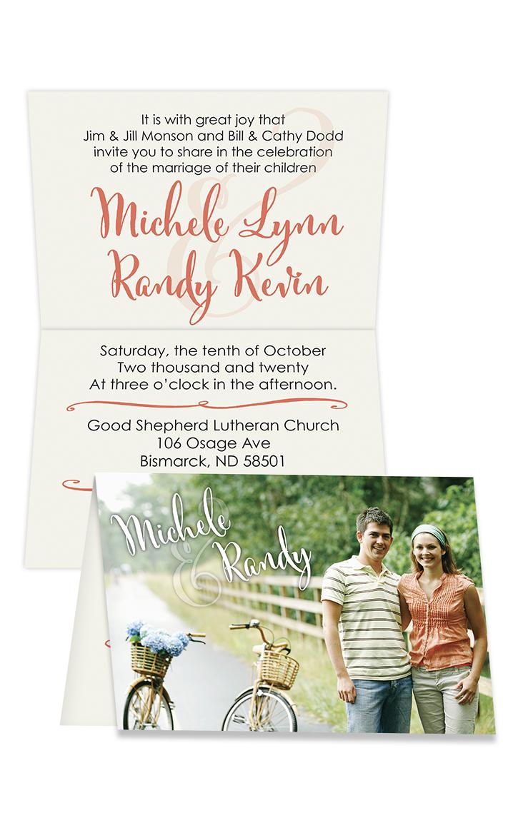 Wedding Printing Invitations Folded Card