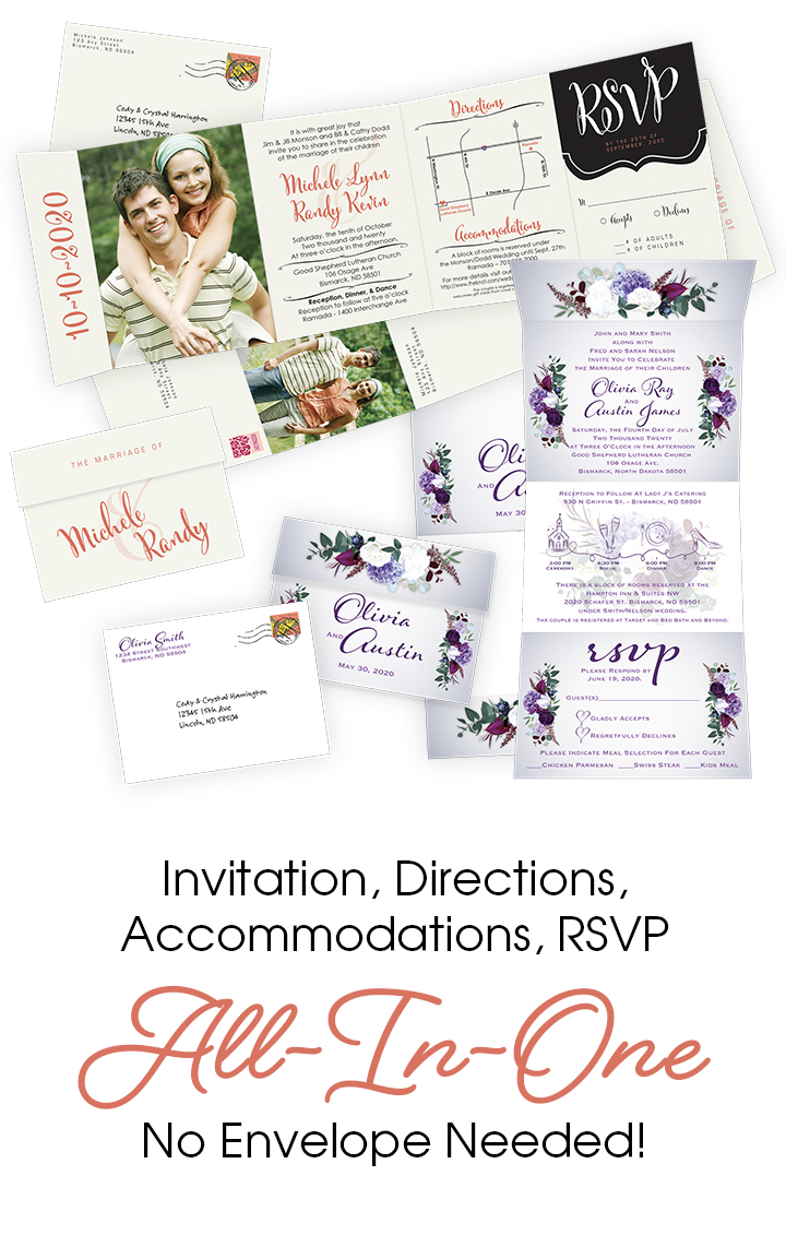 Wedding Printing Invites All-In-One