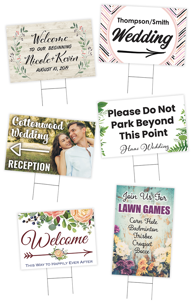 Wedding Printing Corrugated Yard Signs