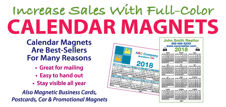 Increase Sales With Full-Color Calendar Magnets