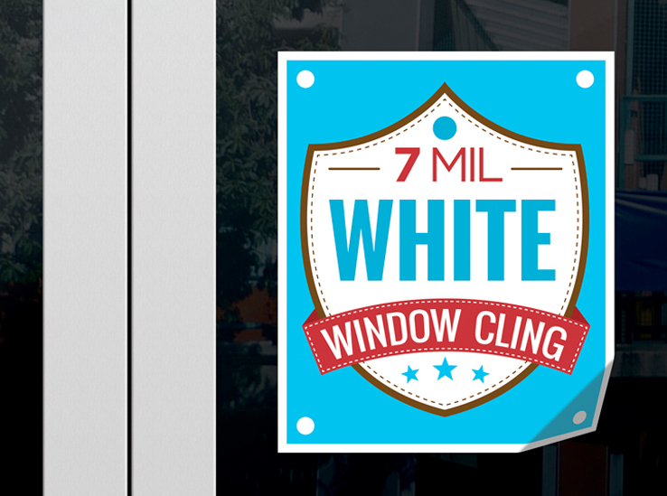 Window Cling - White