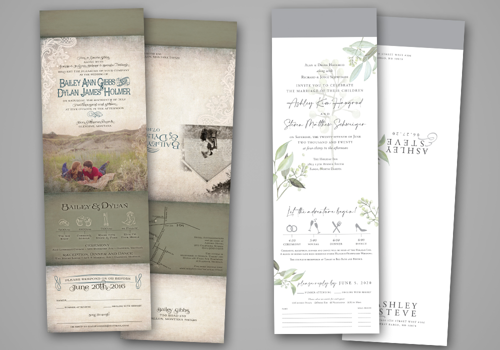 Oversize All-in-One Invites