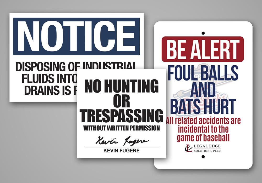 Pre-cut Aluminum Signs
